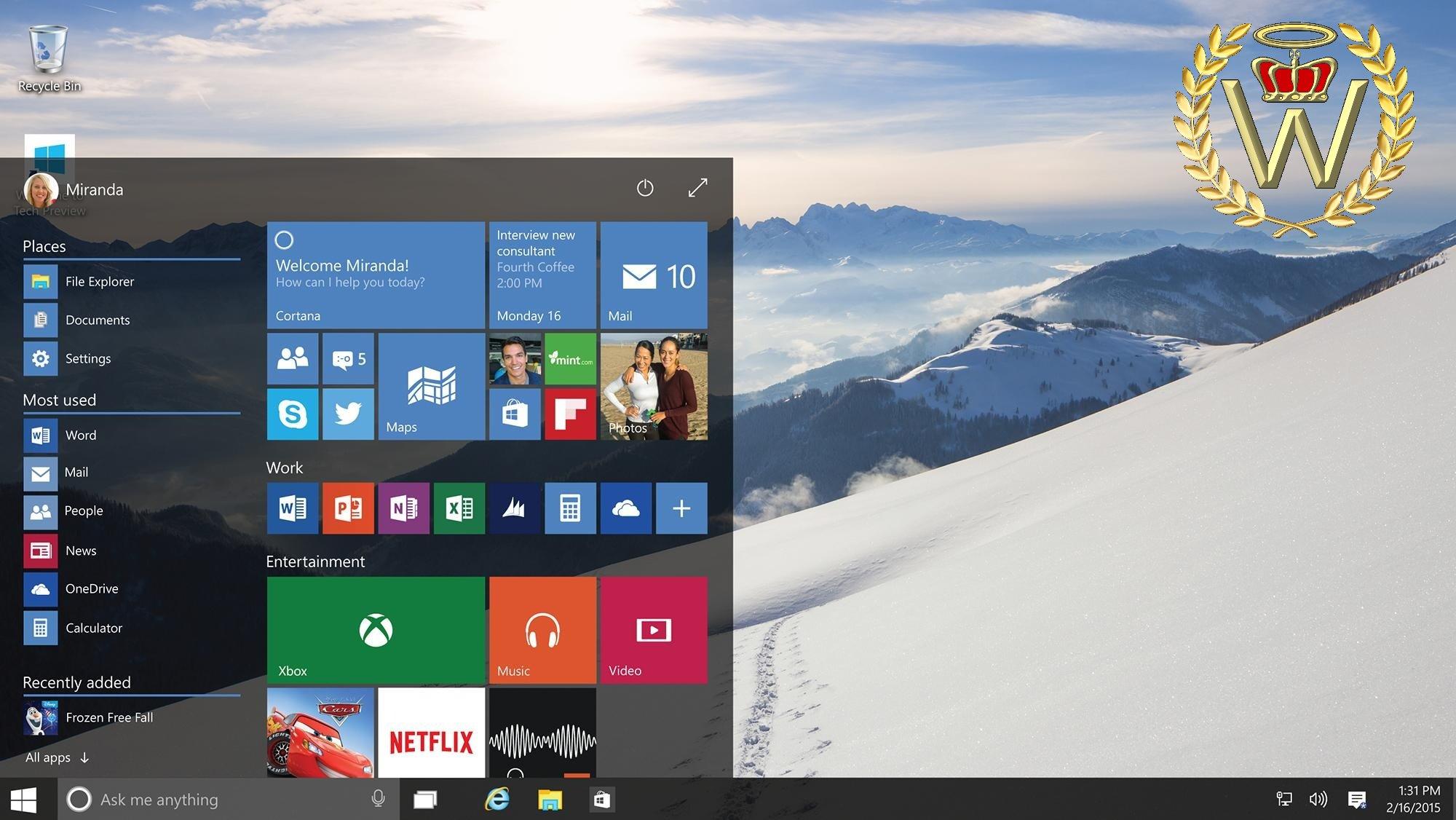 Win Windows Startscreen
